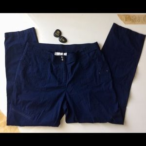 Chico's Pants - Chico's Navy Blue Cargo Pants Size